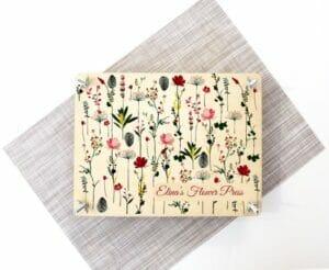 Personalized Botanical Flower Press by O Shiny Wood