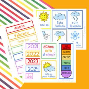Spanish Children's Calendar Printables