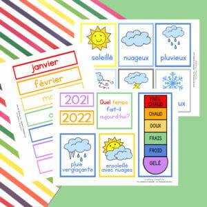 DIY Children's Calendar printables in French.