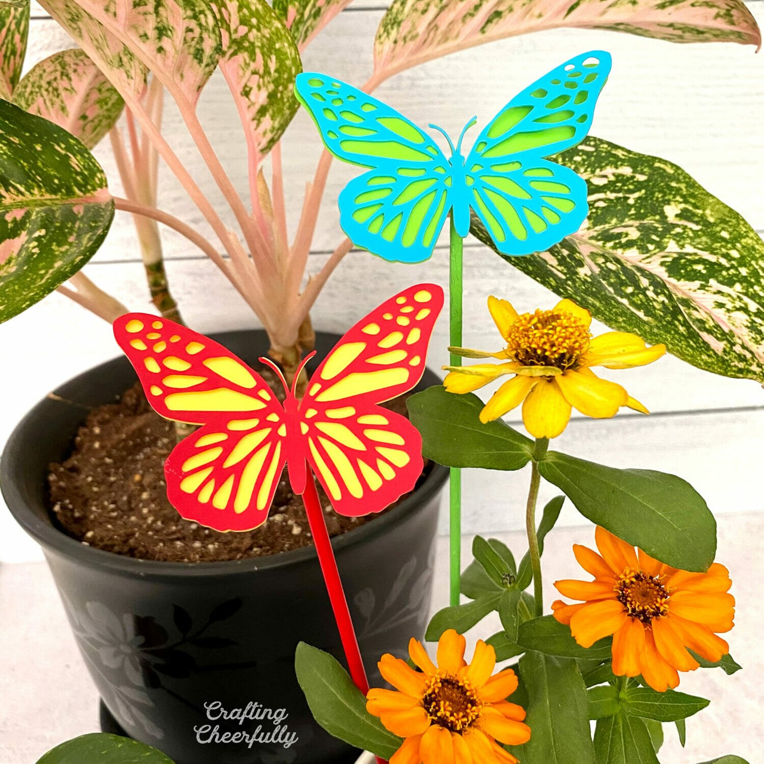 DIY Butterfly Plant Stakes for House Plants
