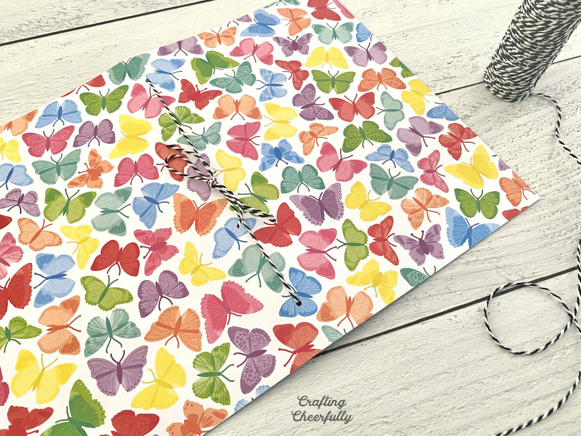 Butterfly DIY journal.