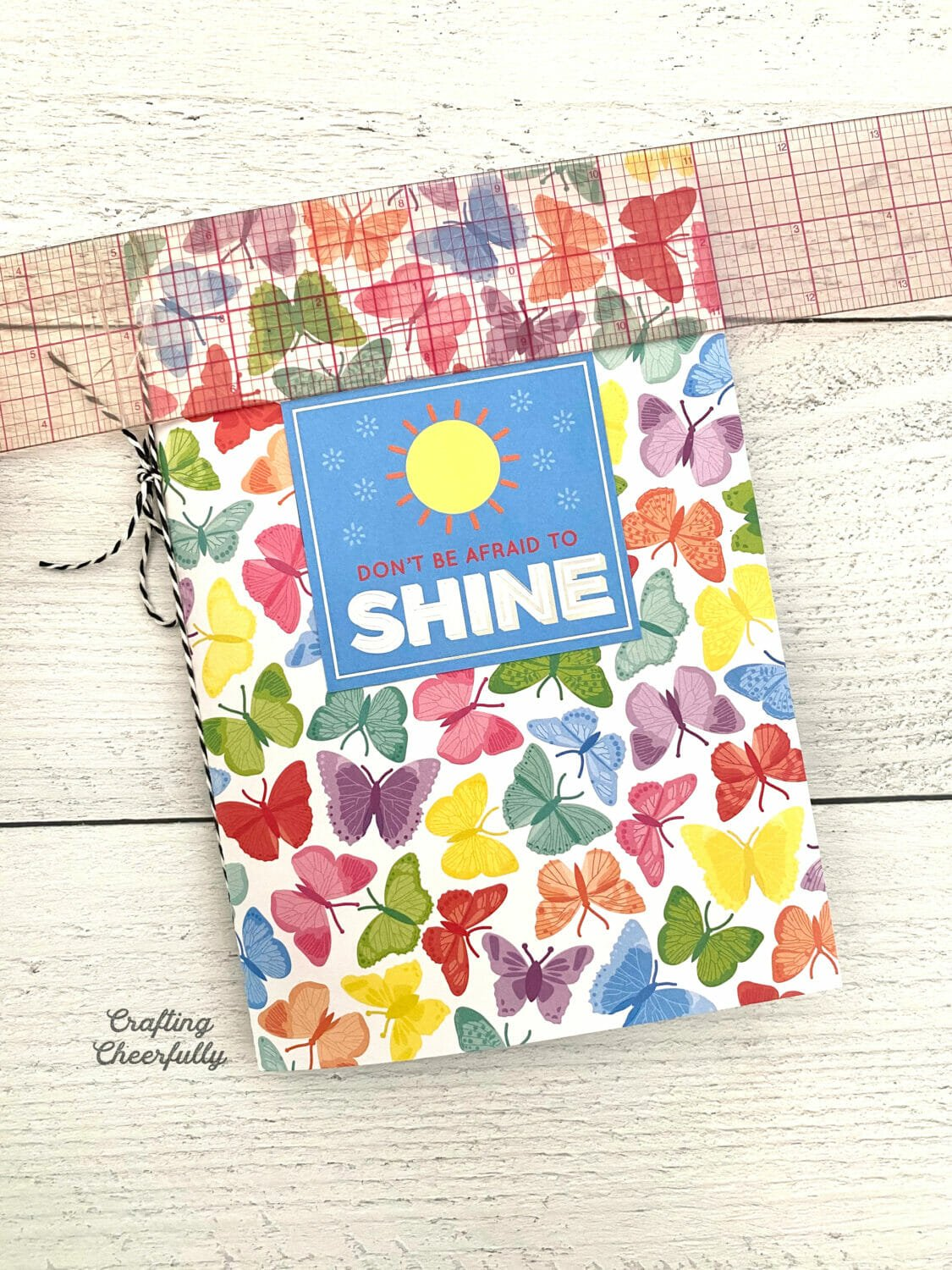 """Colorful DIY Summer journal with the words """"Don't be afraid to shine"""""""