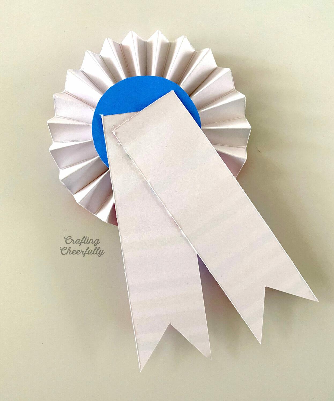 The back of the Happy Birthday Award Ribbon