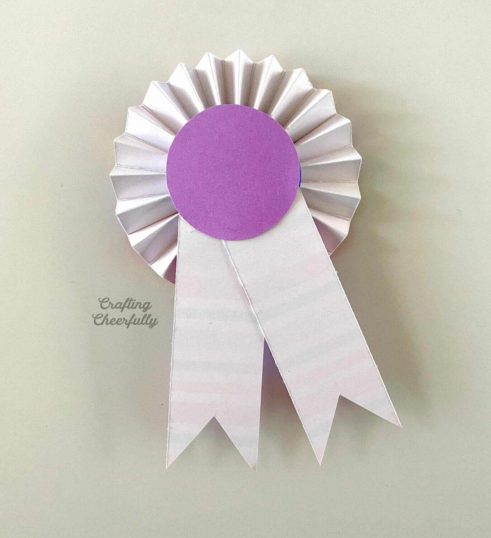 The back of the award ribbon.