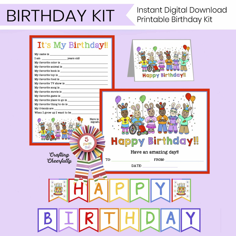 Happy Birthday printable kit