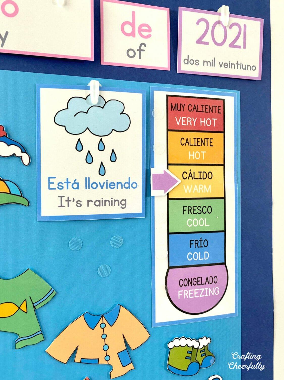 DIY Morning Board Dual Language Spanish and English