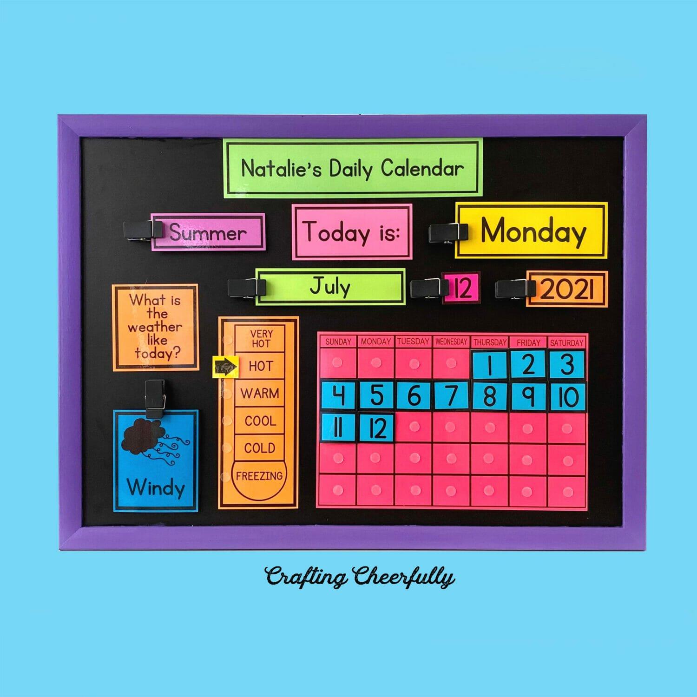 How to Make a Chalkboard Calendar For Kids