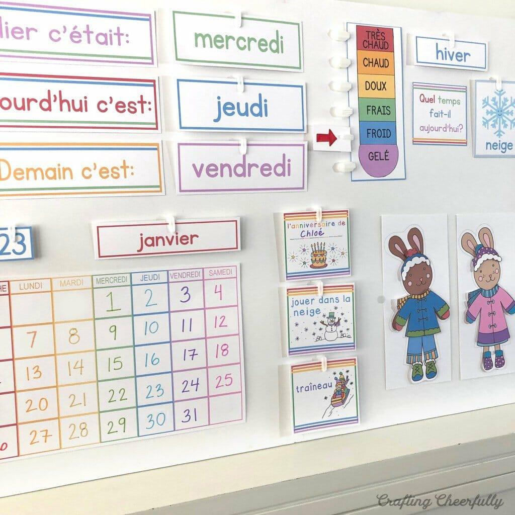 DIY Children's Calendar in French