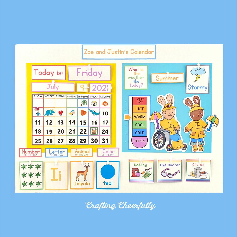 DIY Calendar Morning Board- Free Printables!