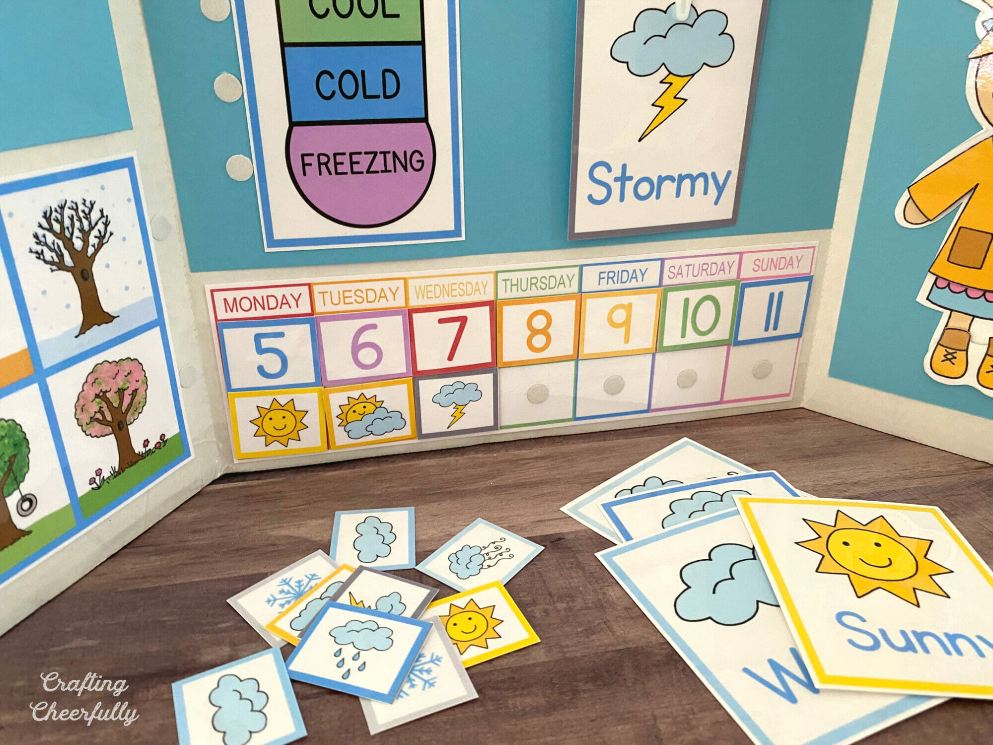 Weekly weather calendar for kids