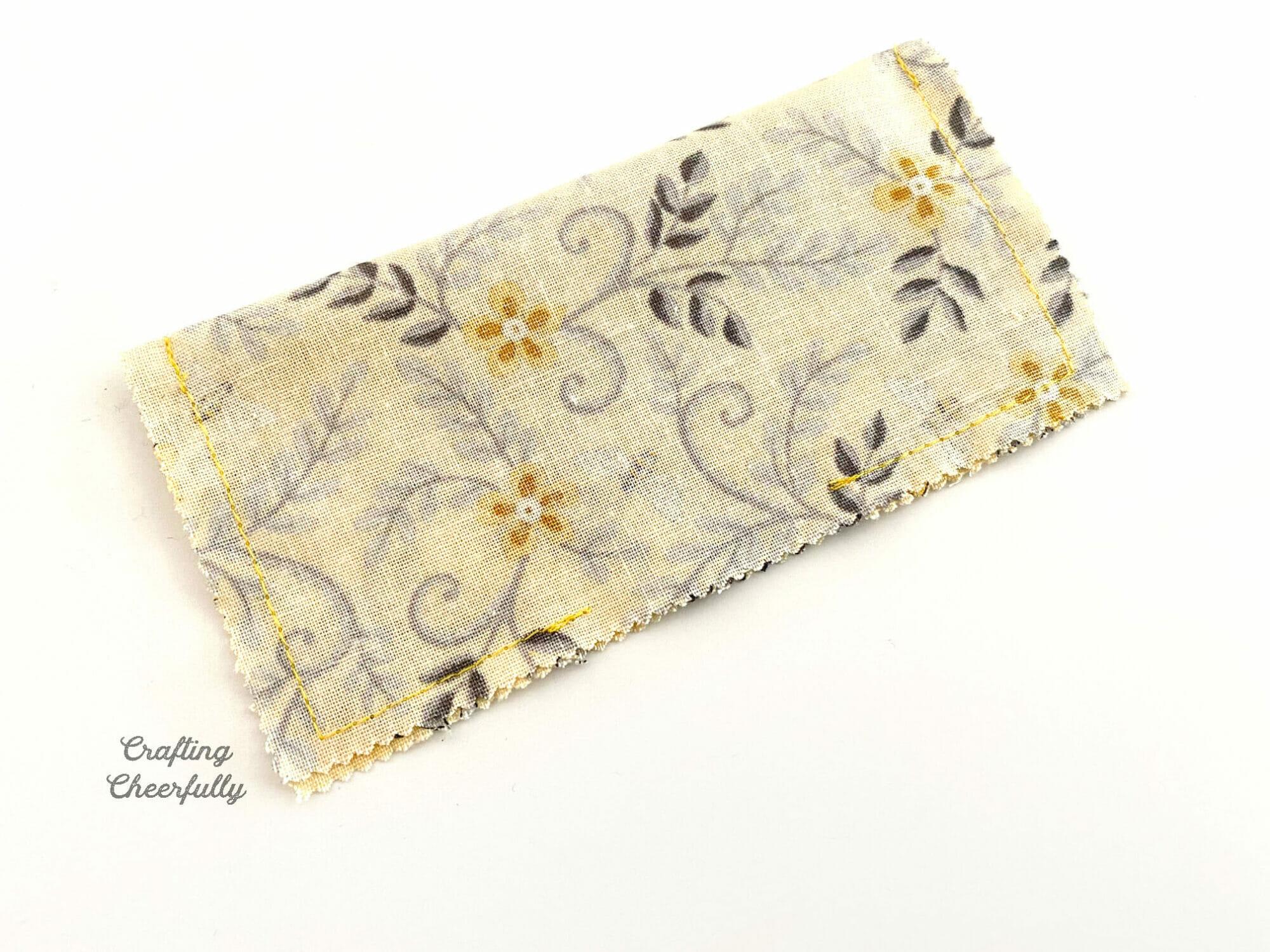 Mini Pillow sewn.