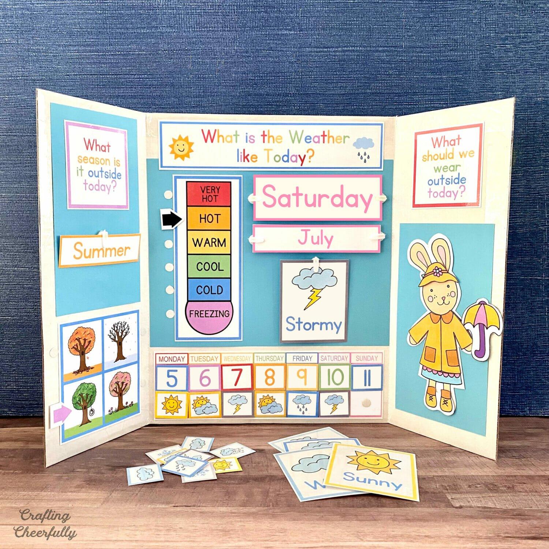 DIY Weather Calendar for Kids – Free Printables!