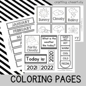 Calendar Coloring Pages in English