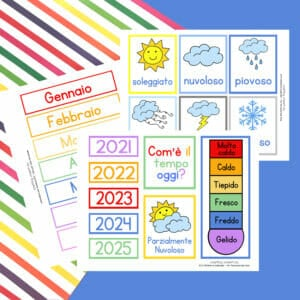 Italian Children's Calendar Printables