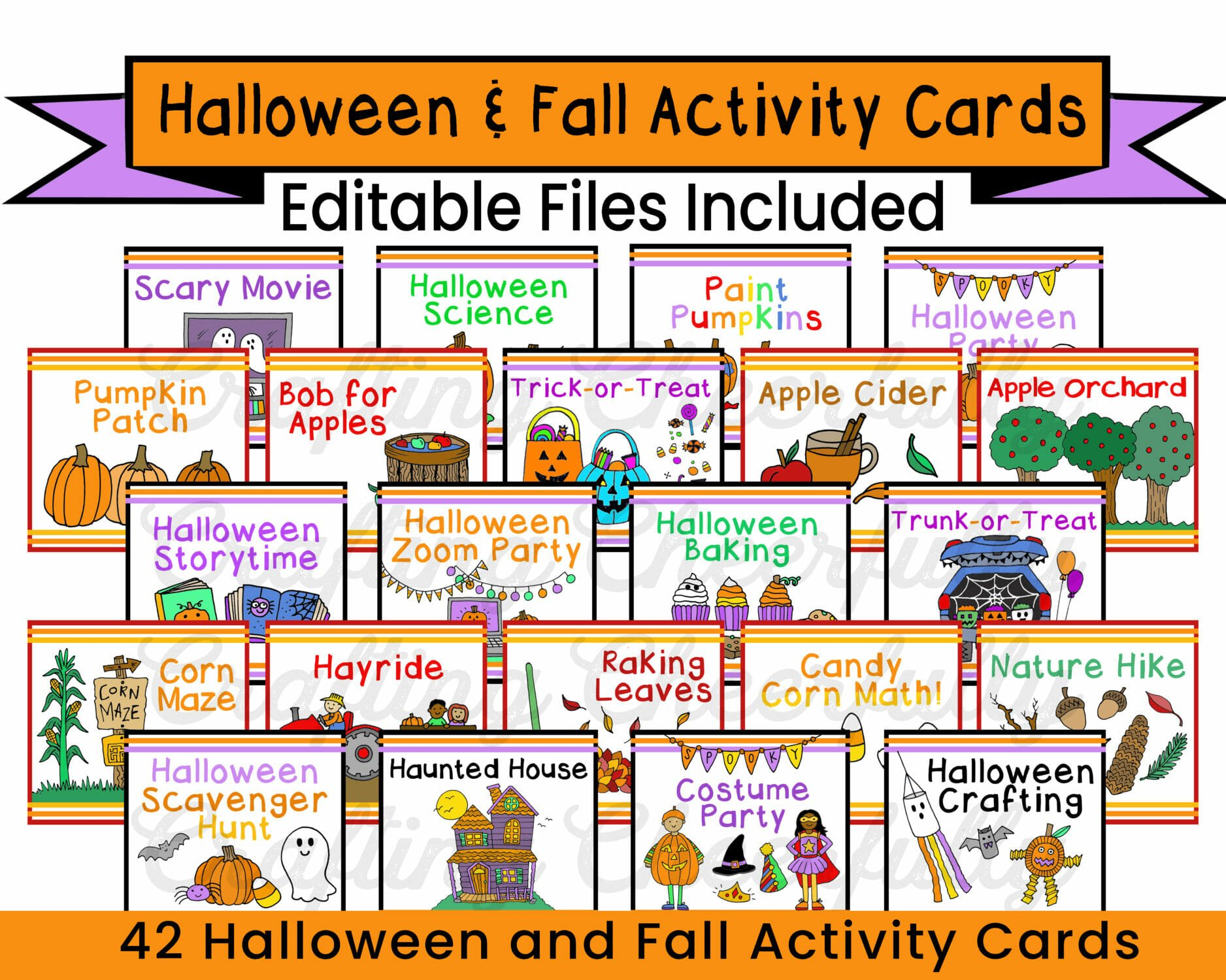 Halloween and Fall Activity Cards by Crafting Cheerfully