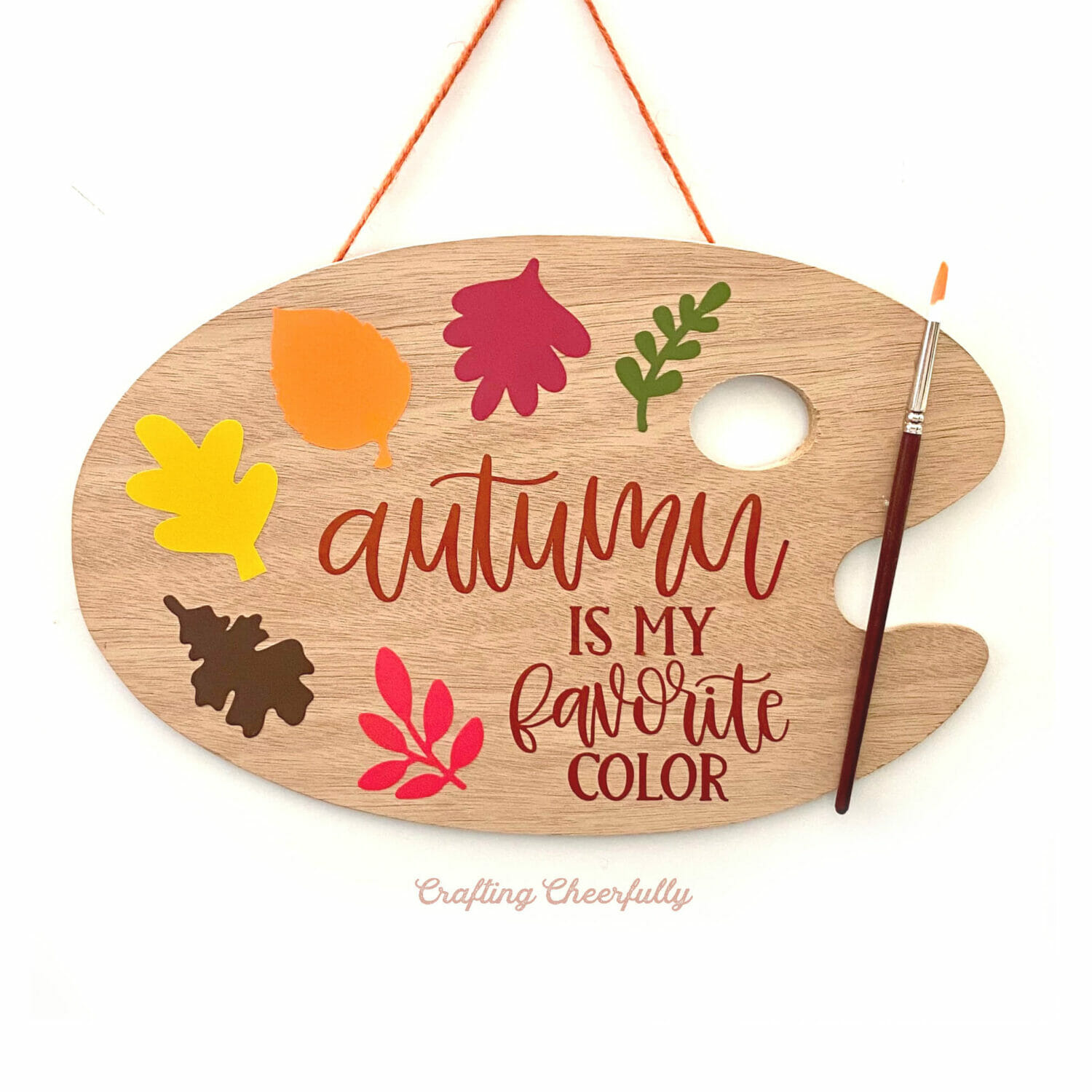 Celebrate Fall Colors with an Autumn Paint Palette Sign