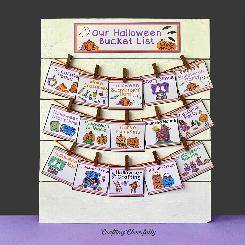 DIY Halloween Bucket List Sign